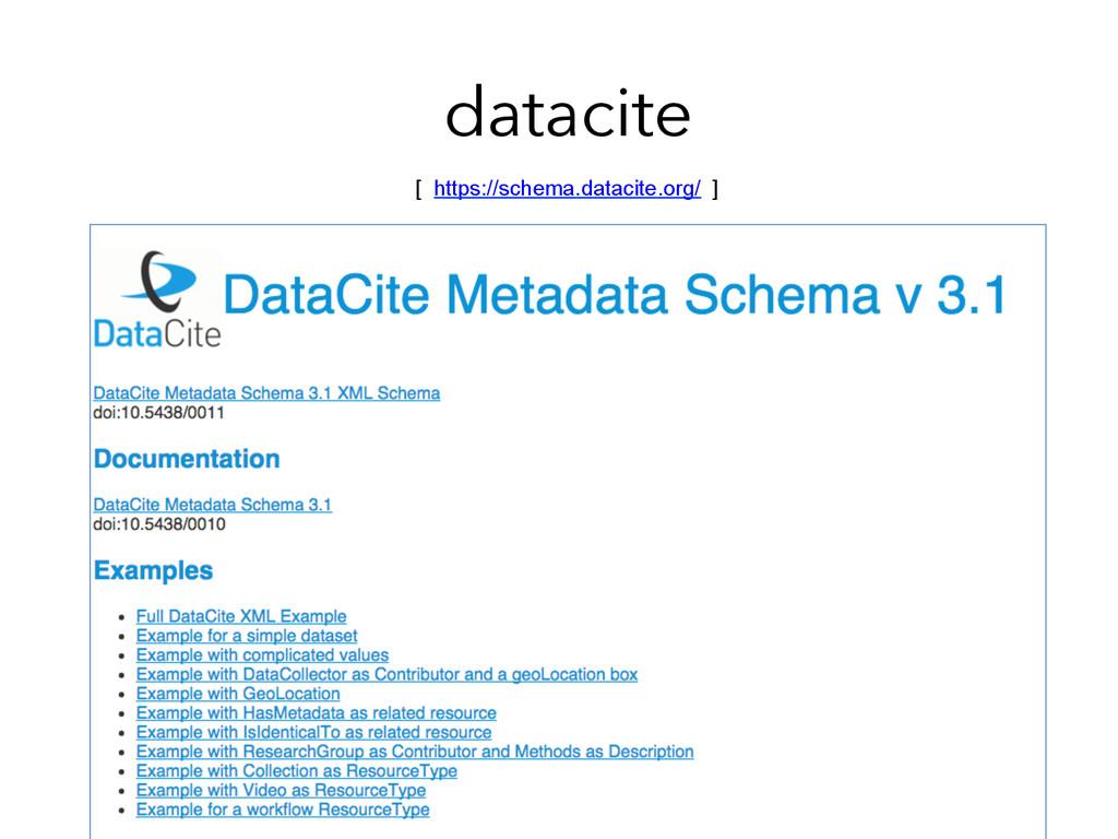datacite [ https://schema.datacite.org/ ]