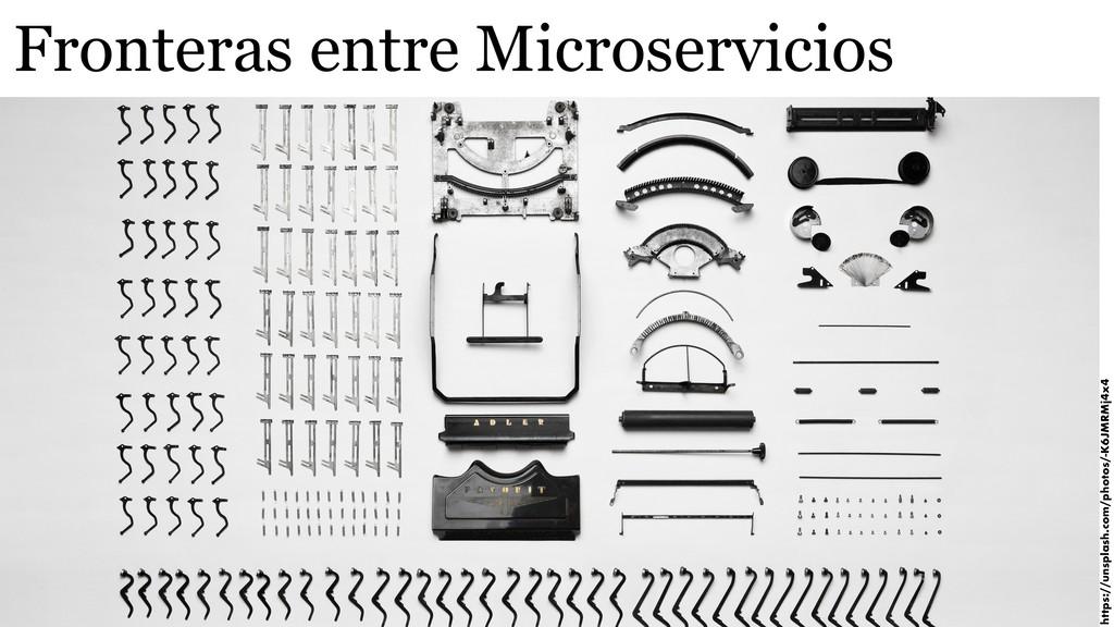 Fronteras entre Microservicios https://unsplash...