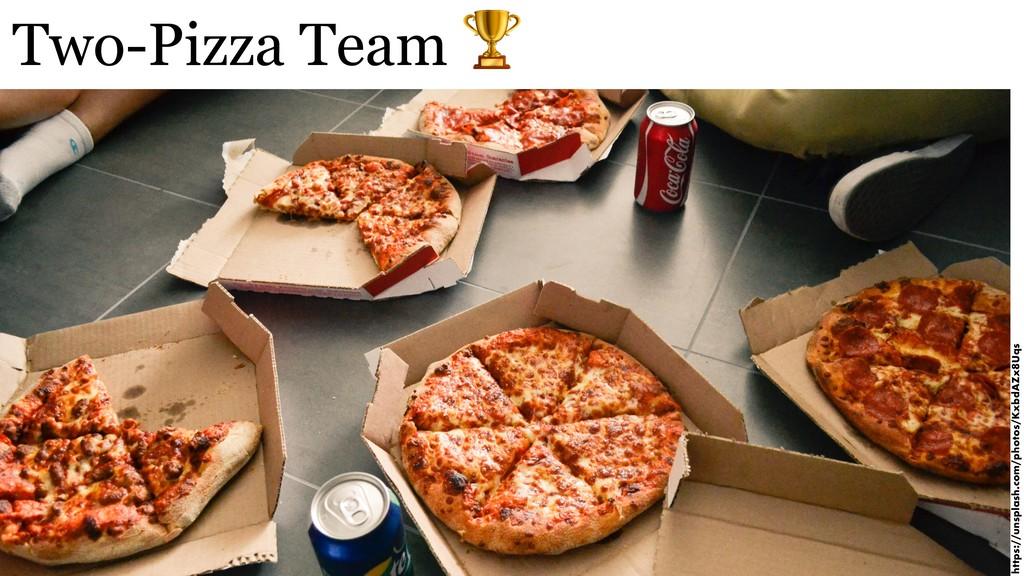 Two-Pizza Team  https://unsplash.com/photos/Kxb...