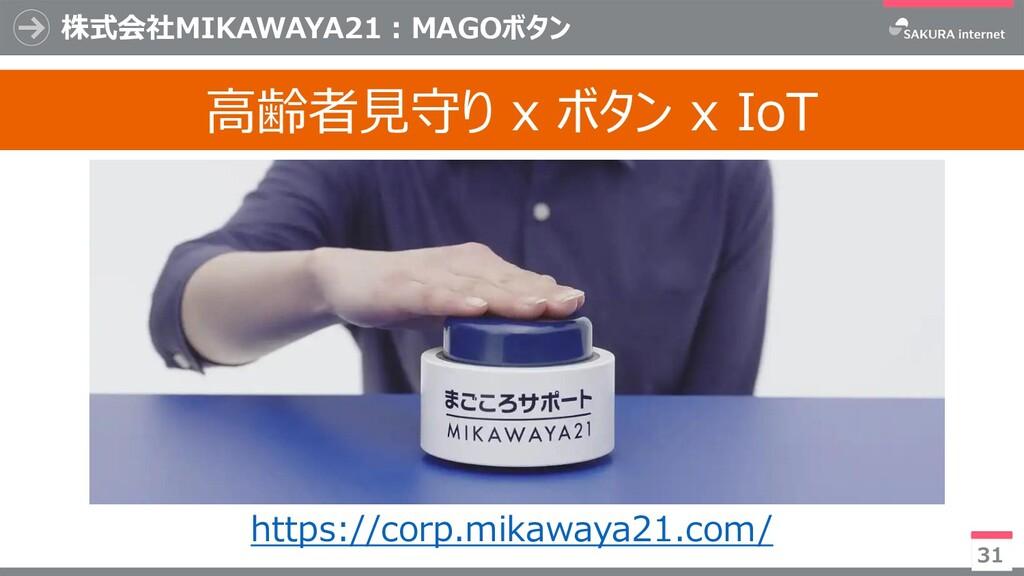 31 高齢者見守り x ボタン x IoT 株式会社MIKAWAYA21:MAGOボタン ht...