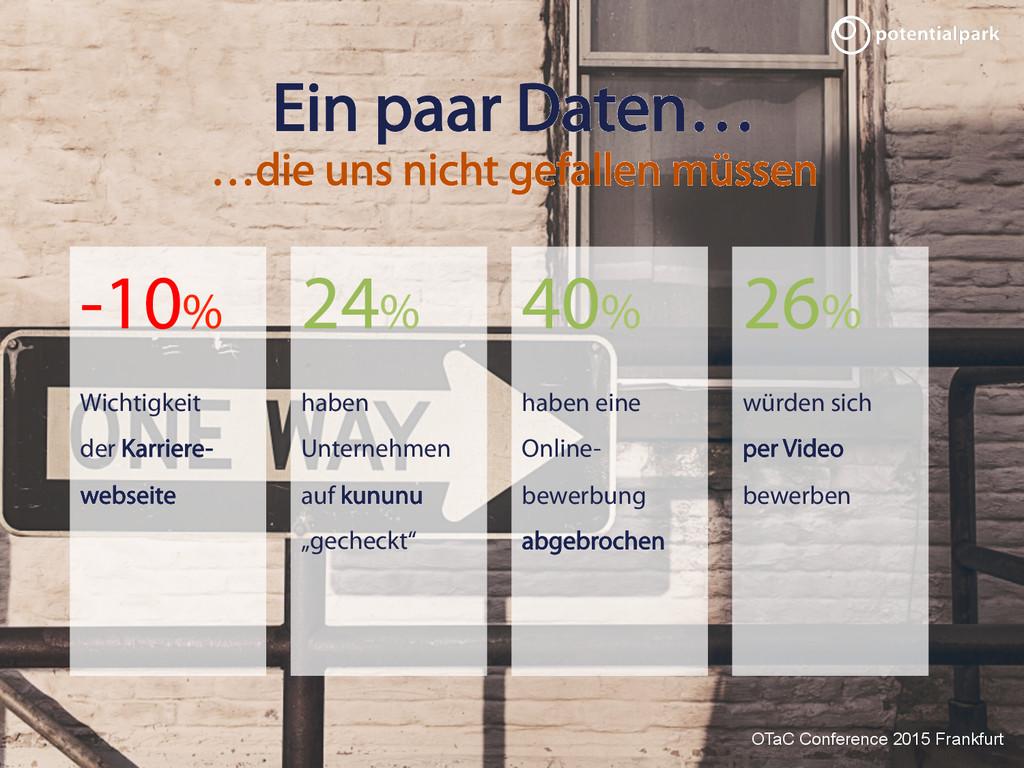 OTaC Conference 2015 Frankfurt Ein paar Daten… ...