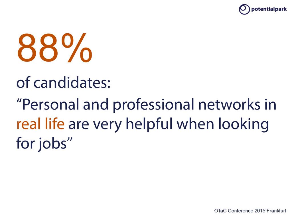 OTaC Conference 2015 Frankfurt 88% of candidate...