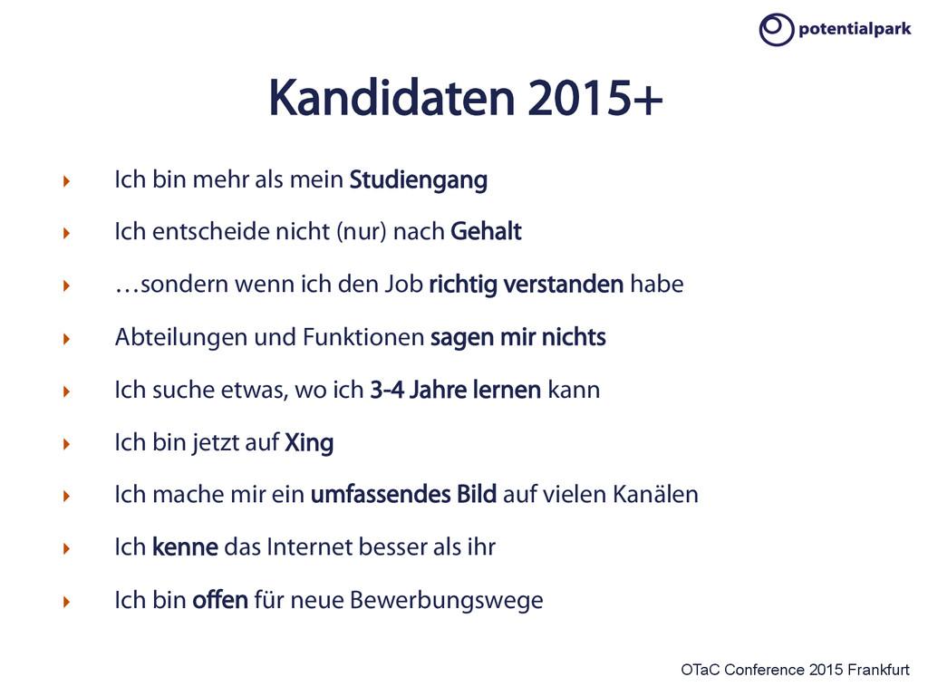 OTaC Conference 2015 Frankfurt Kandidaten 2015+...
