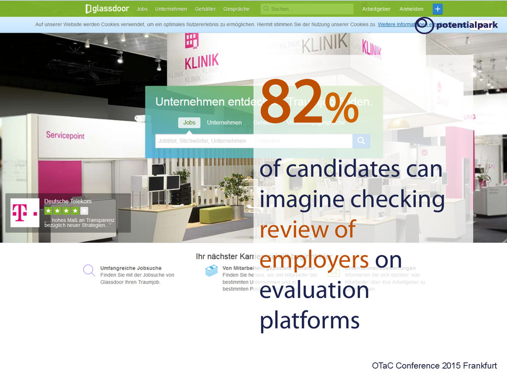 OTaC Conference 2015 Frankfurt 82% of candidate...