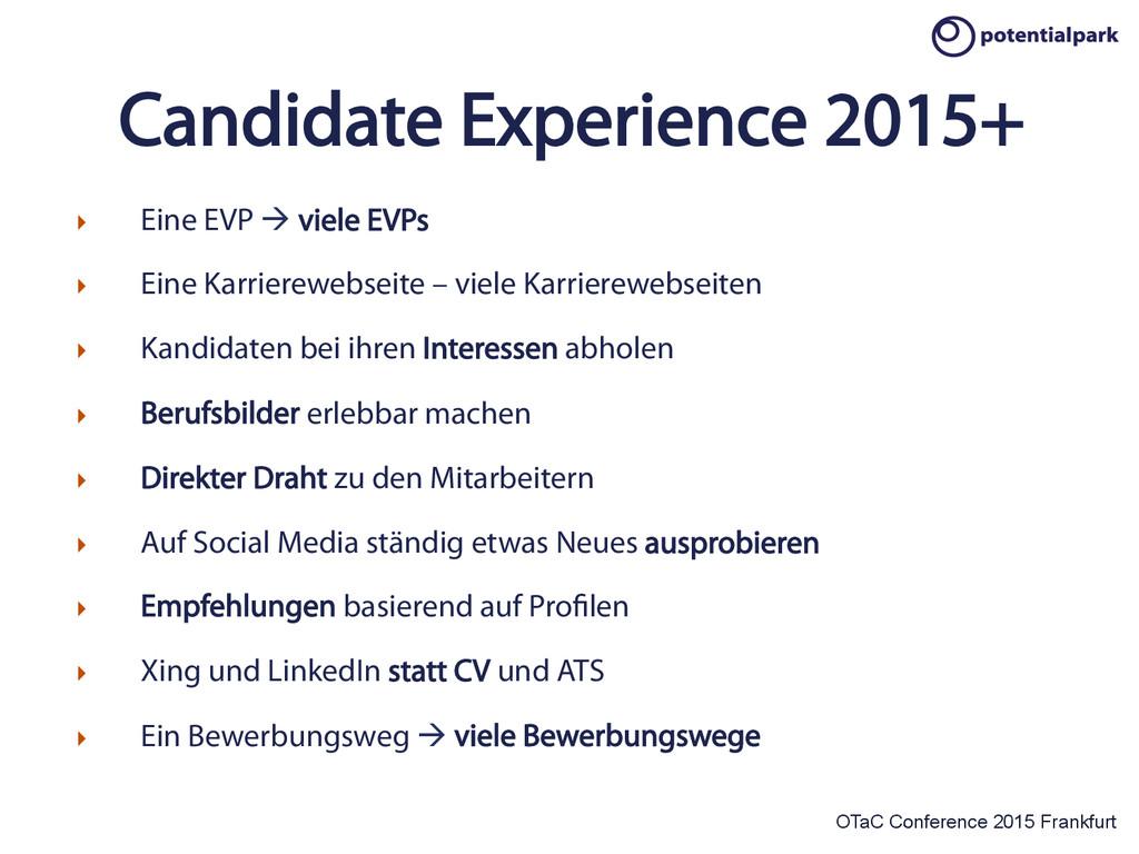 OTaC Conference 2015 Frankfurt Candidate Experi...