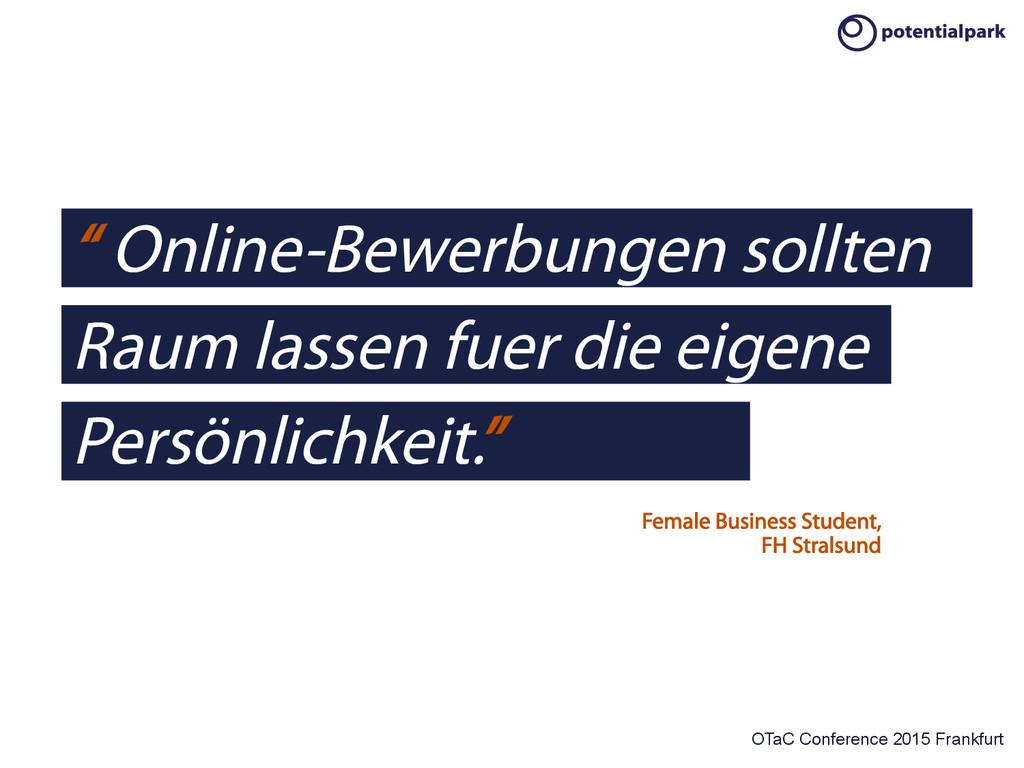 "OTaC Conference 2015 Frankfurt "" Online-Bewerbu..."