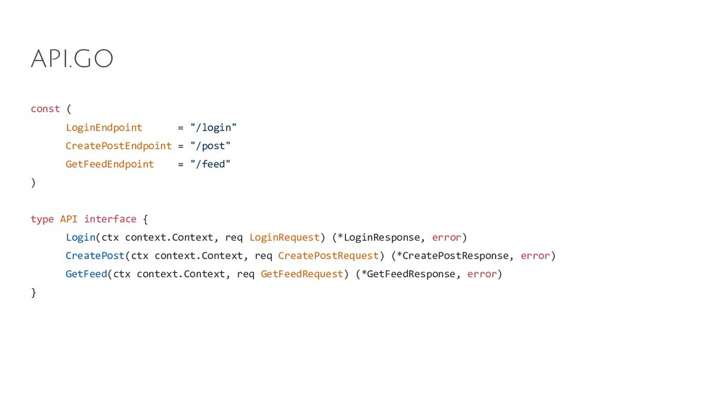 "const ( LoginEndpoint = ""/login"" CreatePostEndp..."