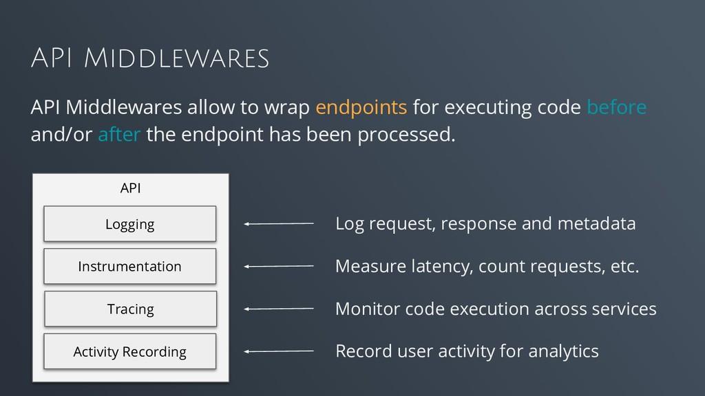 API Middlewares API Middlewares allow to wrap e...