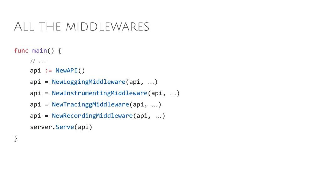 func main() { // ... api := NewAPI() api = NewL...