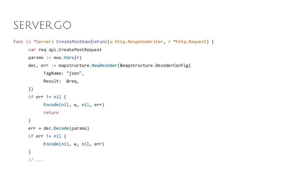 func (s *Server) CreatePostHandleFunc(w http.Re...