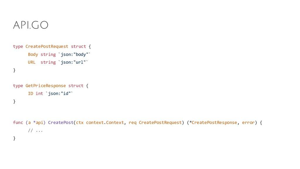 type CreatePostRequest struct { Body string `js...