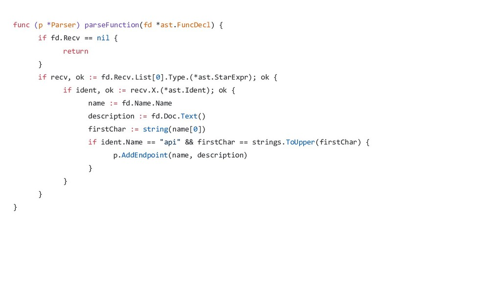 func (p *Parser) parseFunction(fd *ast.FuncDecl...