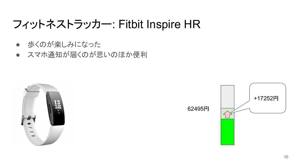 フィットネストラッカー: Fitbit Inspire HR ● 歩くのが楽しみになった ● ...