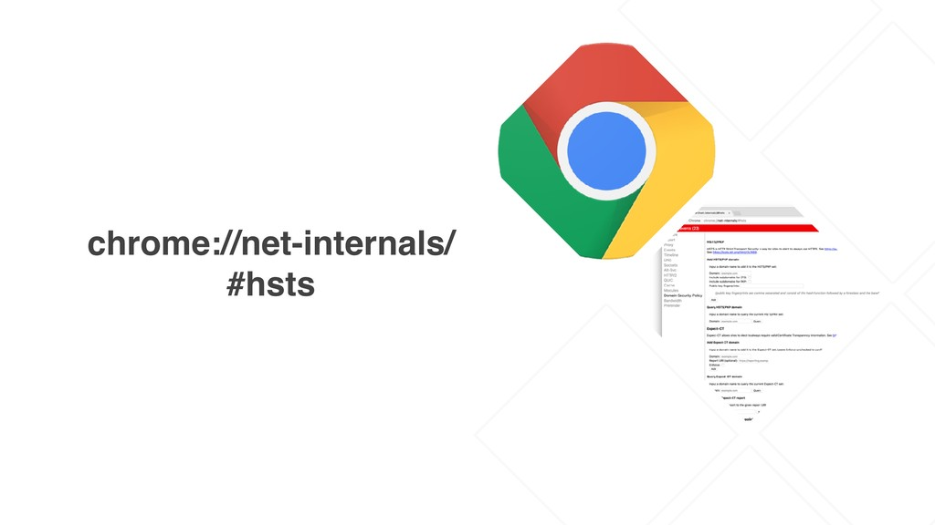chrome://net-internals/ #hsts