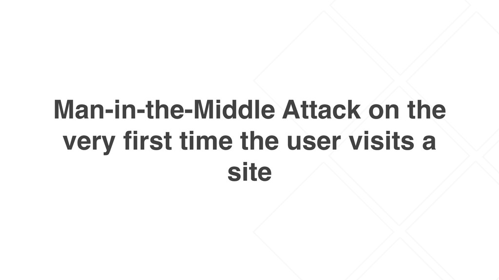 Man-in-the-Middle Attack on the very first time ...