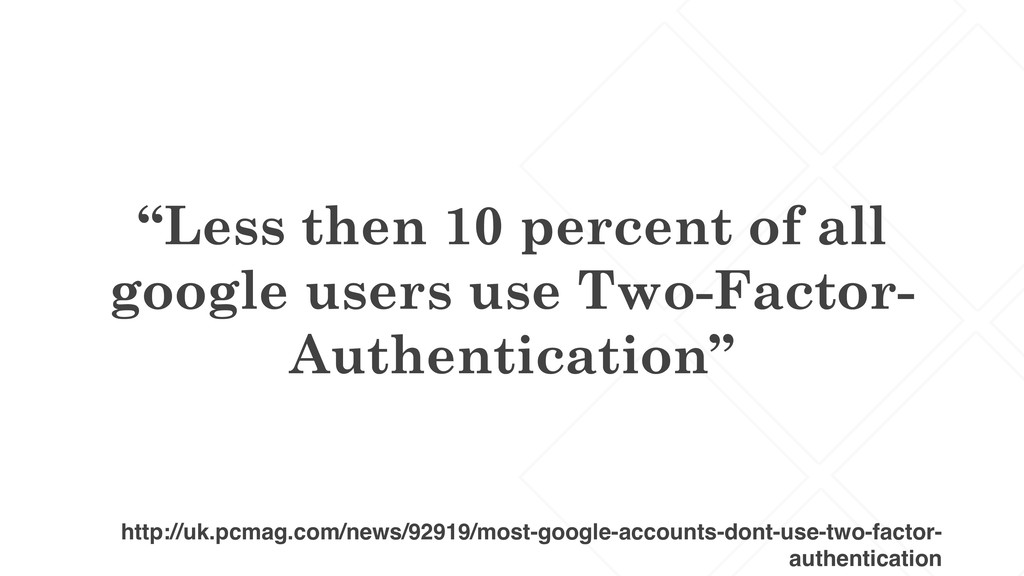 """Less then 10 percent of all google users use T..."