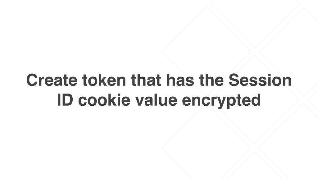 Create token that has the Session ID cookie val...