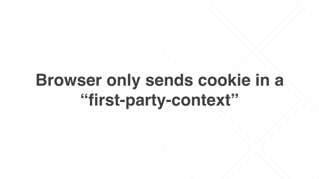 "Browser only sends cookie in a ""first-party-cont..."