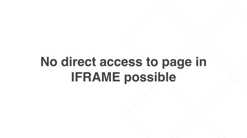 No direct access to page in IFRAME possible