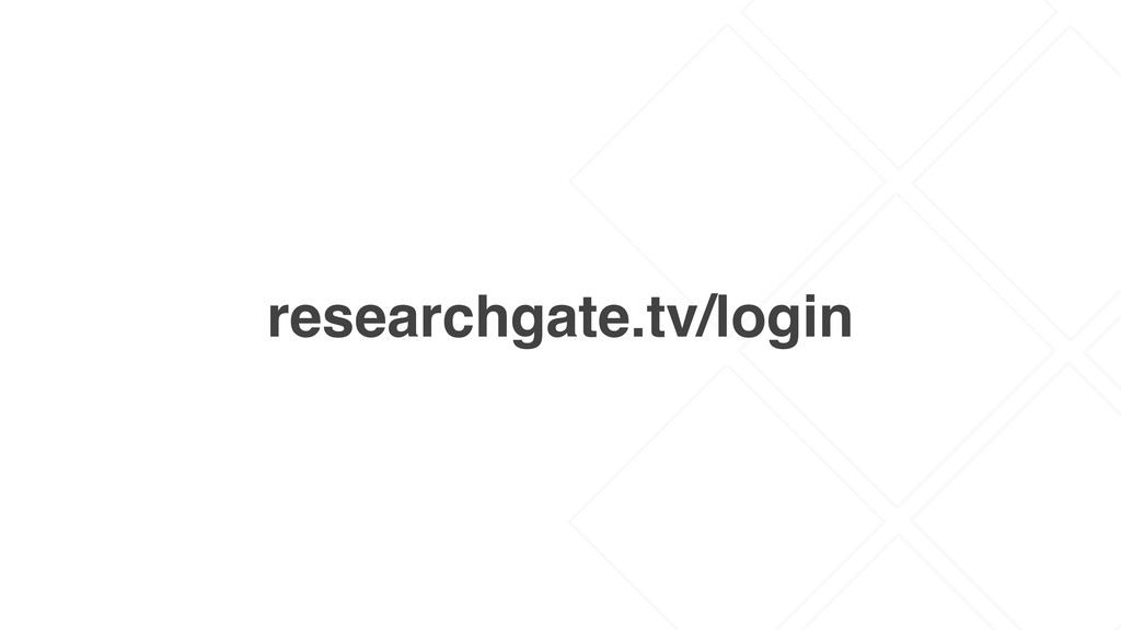 researchgate.tv/login