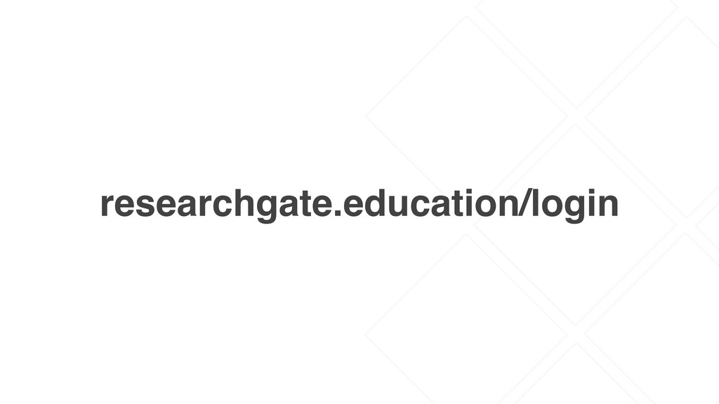 researchgate.education/login
