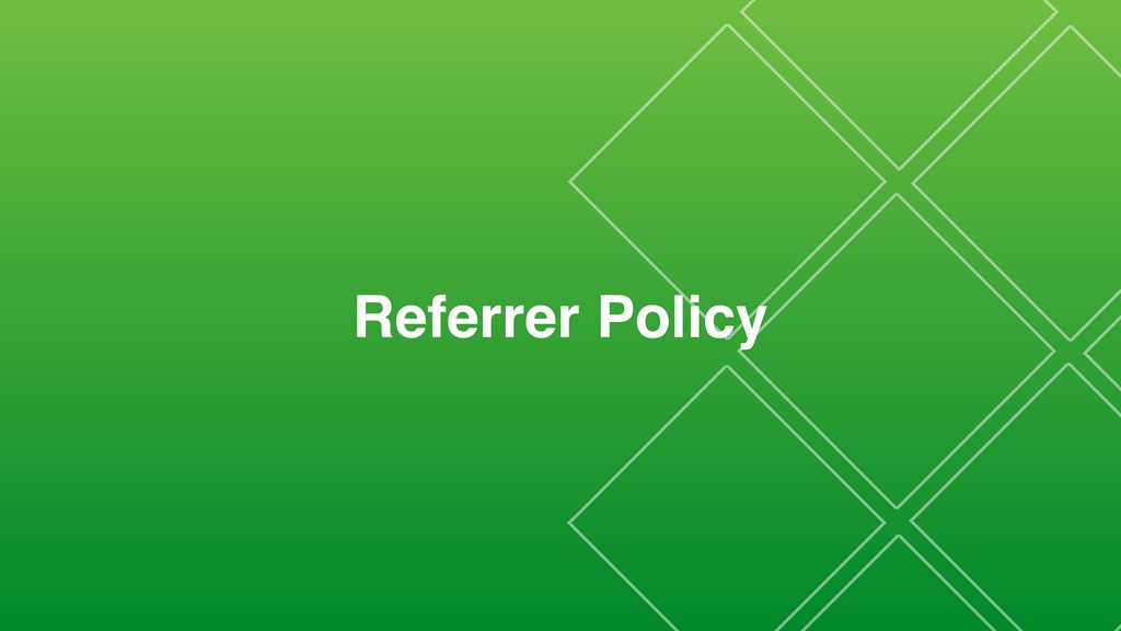 Referrer Policy