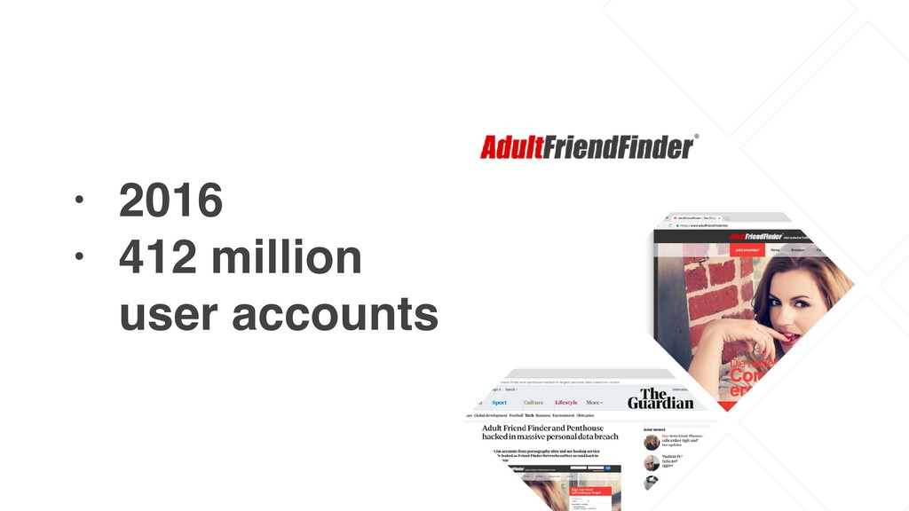 • 2016 • 412 million user accounts