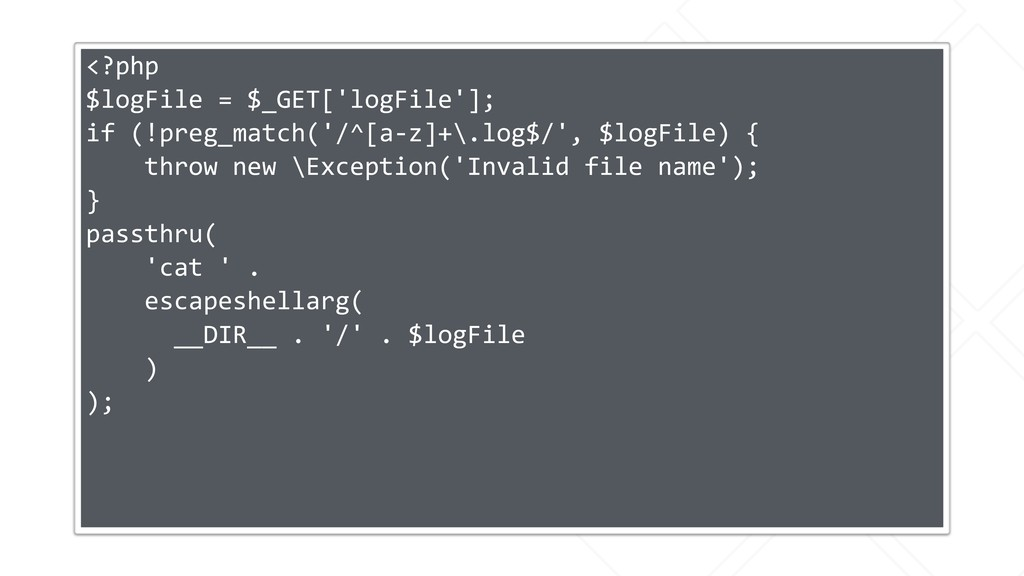 <?php $logFile = $_GET['logFile']; if (!preg_ma...