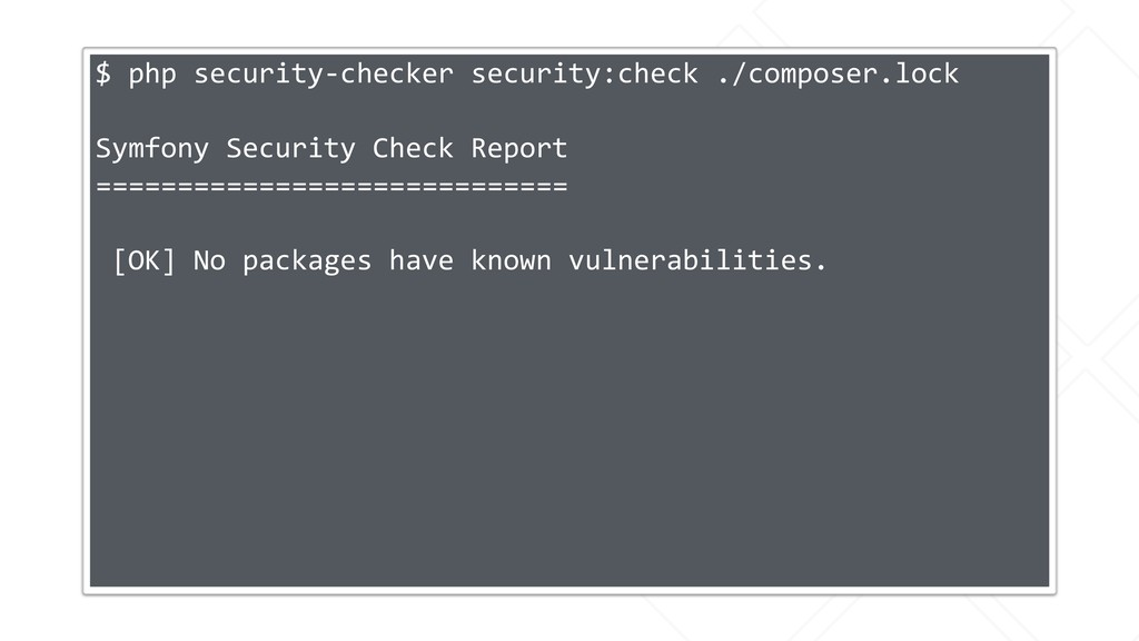 $ php security-checker security:check ./compose...