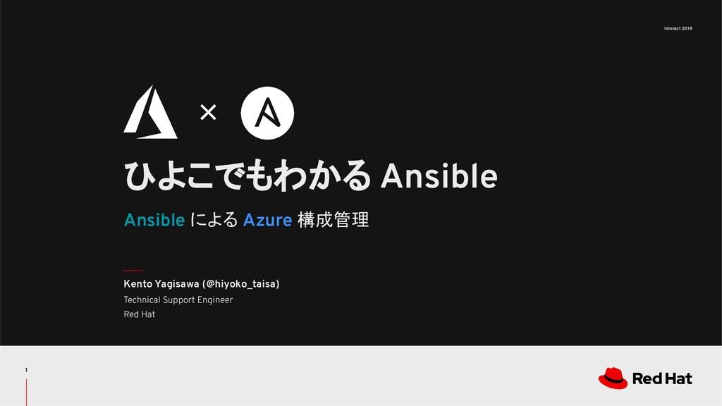 Interact 2019 Ansible による Azure 構成管理 ひよこでもわかる A...