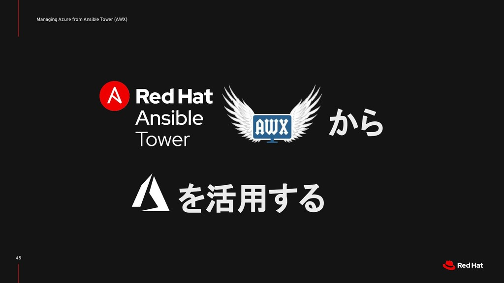 Managing Azure from Ansible Tower (AWX) 45 から を...