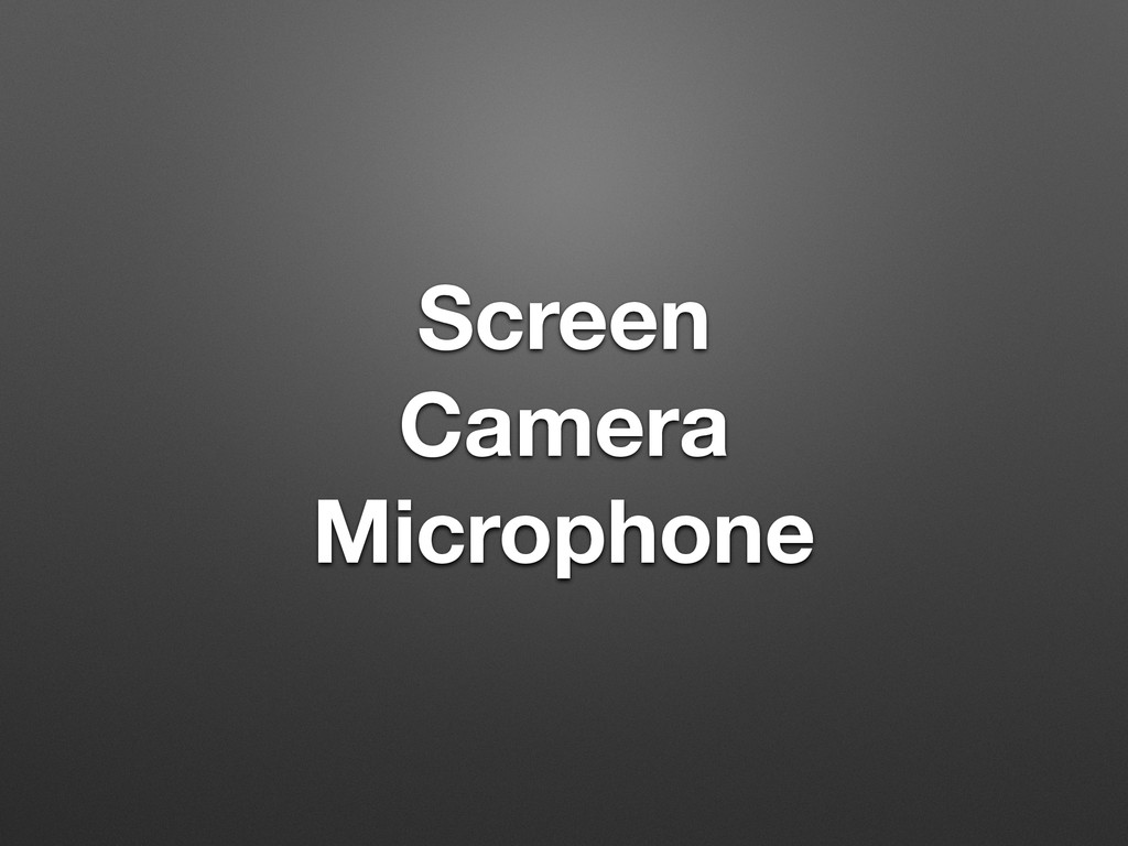 Screen Camera Microphone