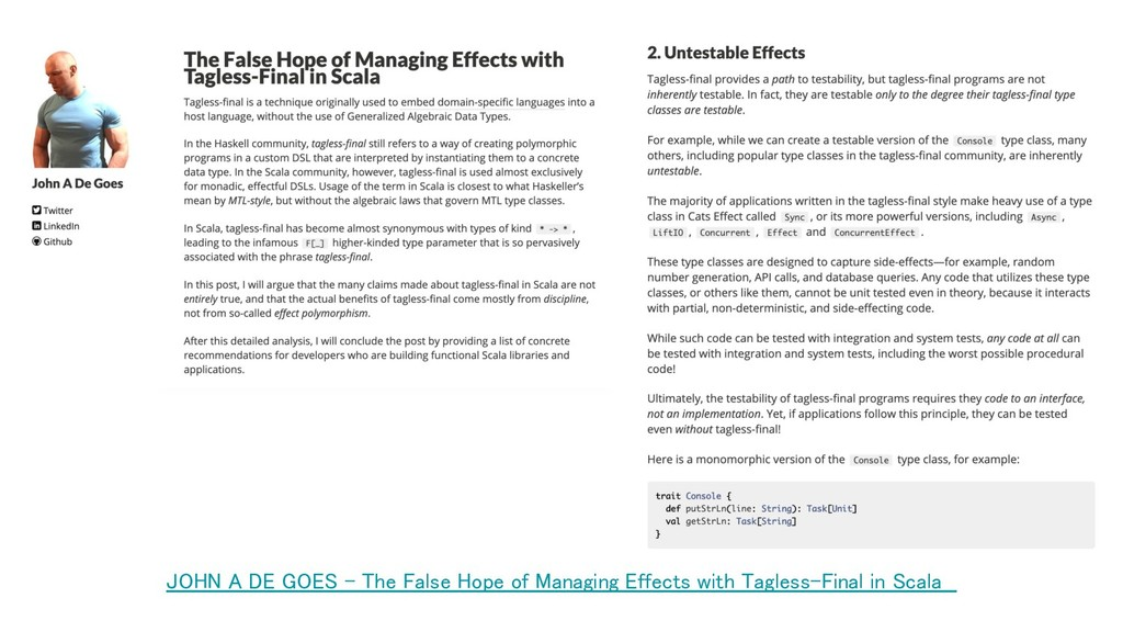 JOHN A DE GOES - The False Hope of Managing Eff...