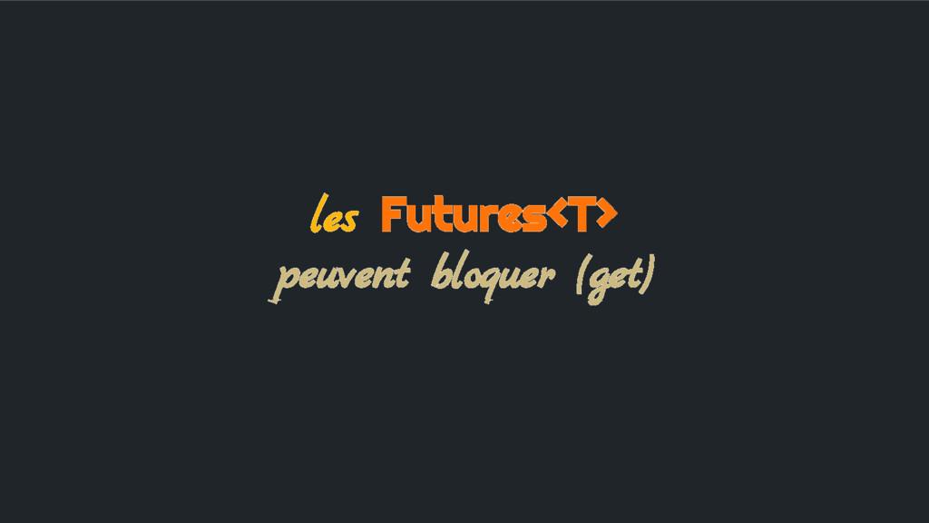 les Futures<T> peuvent bloquer (get)