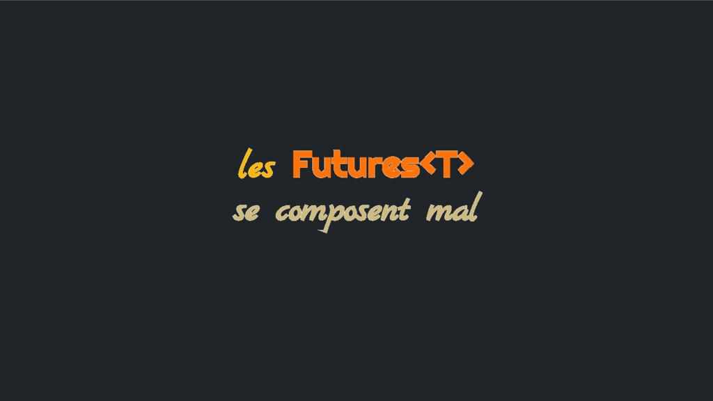 les Futures<T> se composent mal