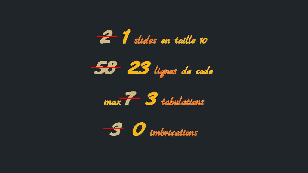 2 1 slides en taille 10 58 23 lignes de code ma...