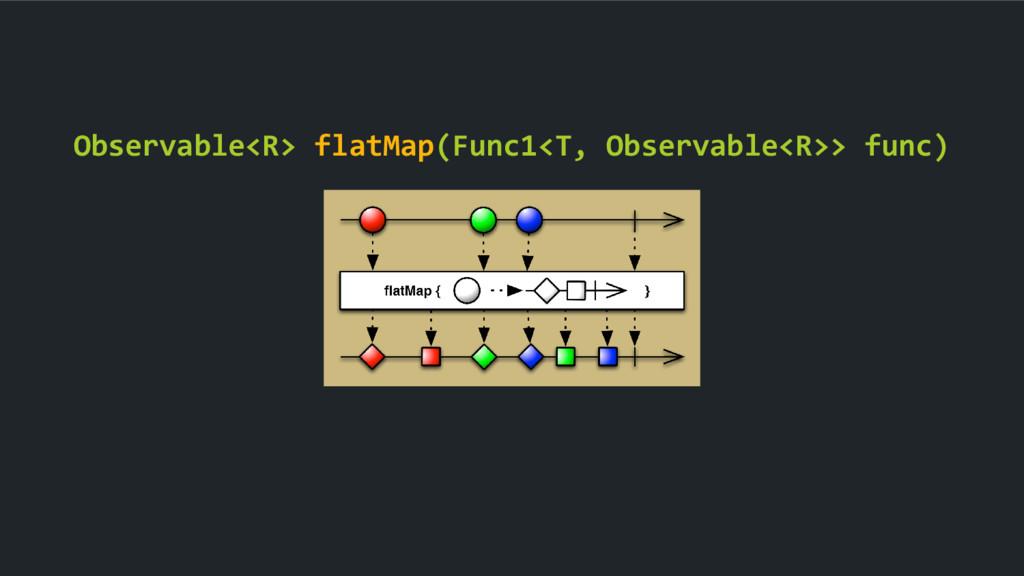Observable<R> flatMap(Func1<T, Observable<R>> f...