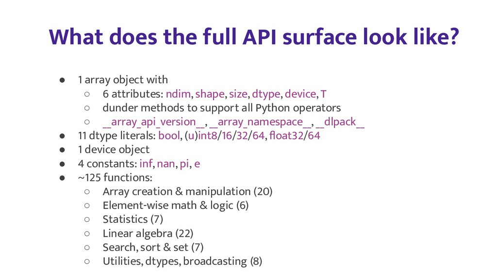 What does the full API surface look like? ● 1 a...