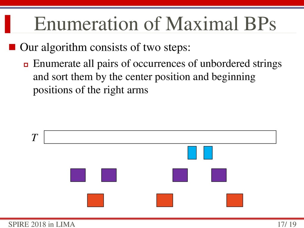  Our algorithm consists of two steps:  Enumer...