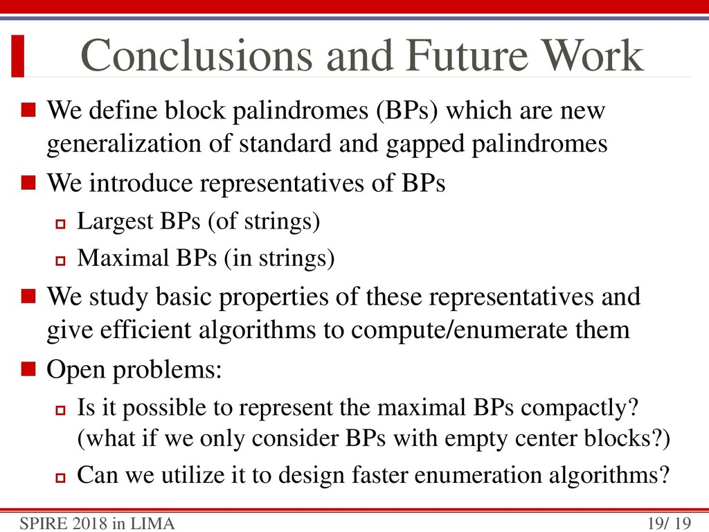  We define block palindromes (BPs) which are n...
