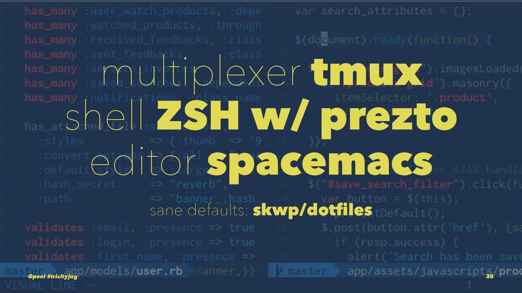 multiplexer tmux shell ZSH w/ prezto editor spa...