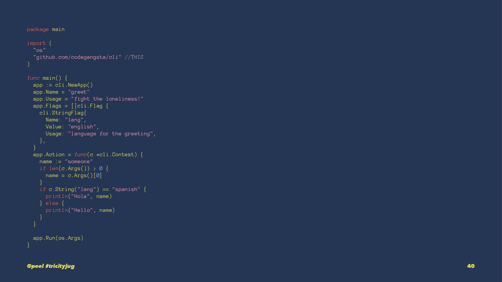 "package main import ( ""os"" ""github.com/codegang..."