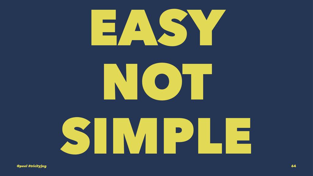 EASY NOT SIMPLE @peel #tricityjug 64