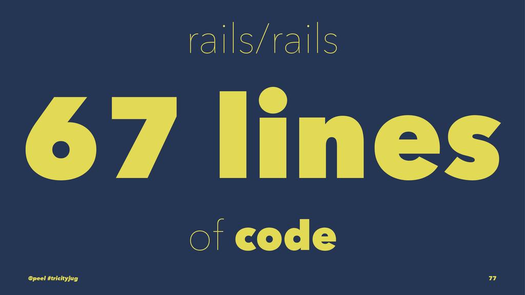 rails/rails 67 lines of code @peel #tricityjug ...