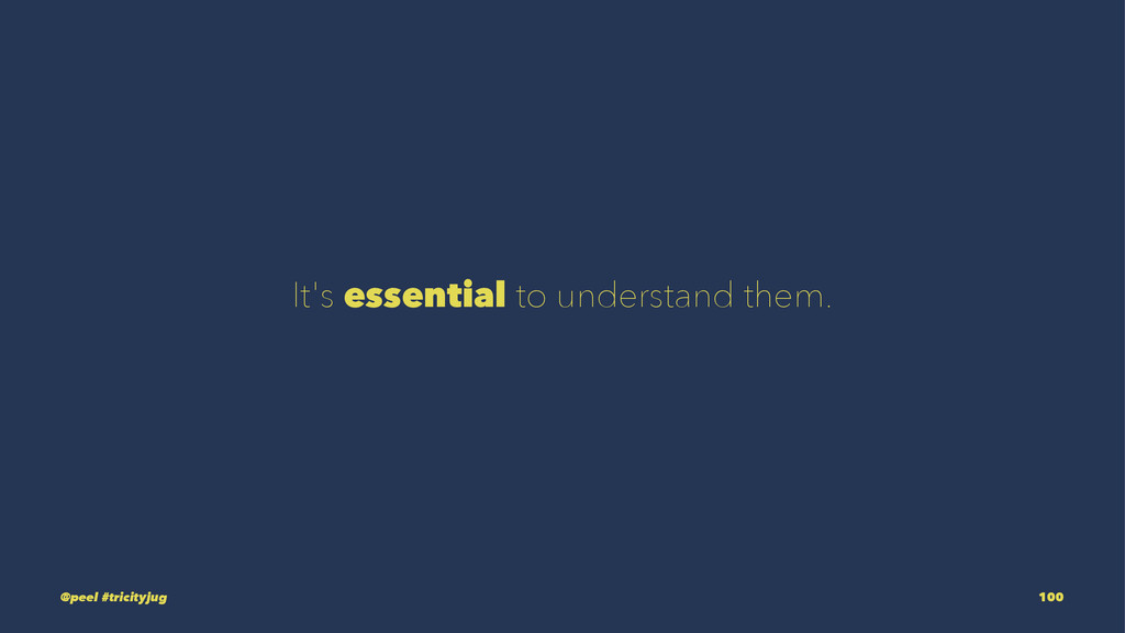 It's essential to understand them. @peel #trici...