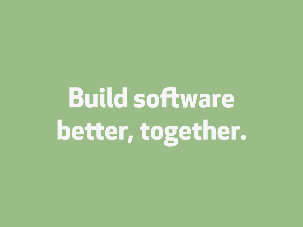 Build soware beer, together.