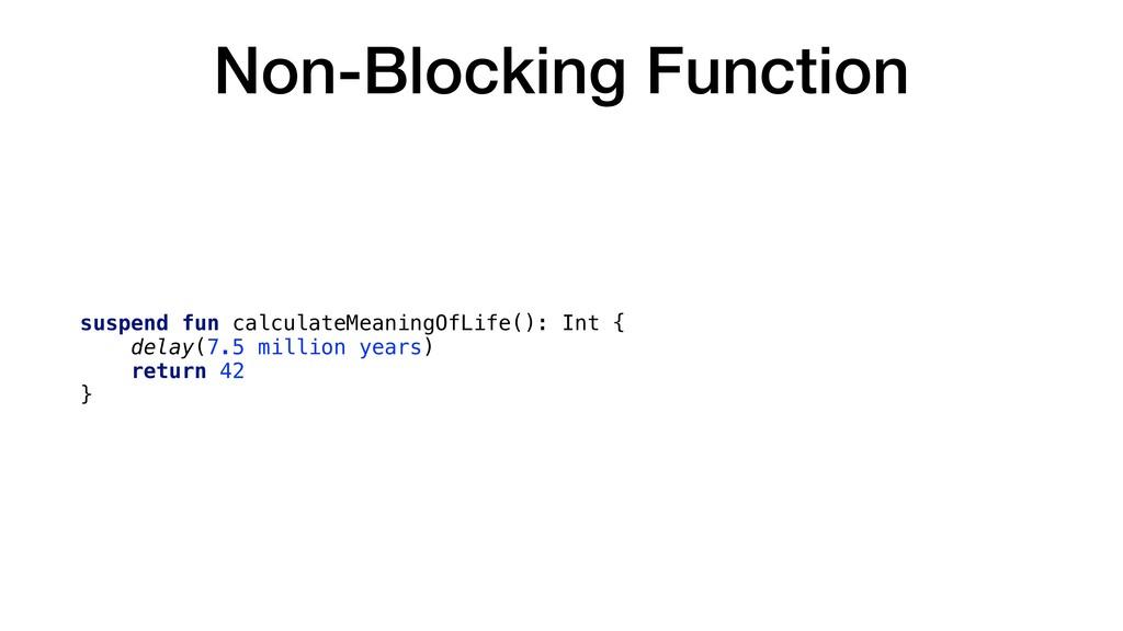 Non-Blocking Function suspend fun calculateMean...