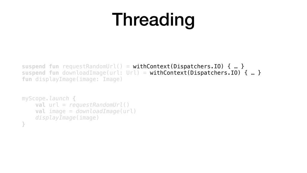 Threading suspend fun requestRandomUrl() = with...