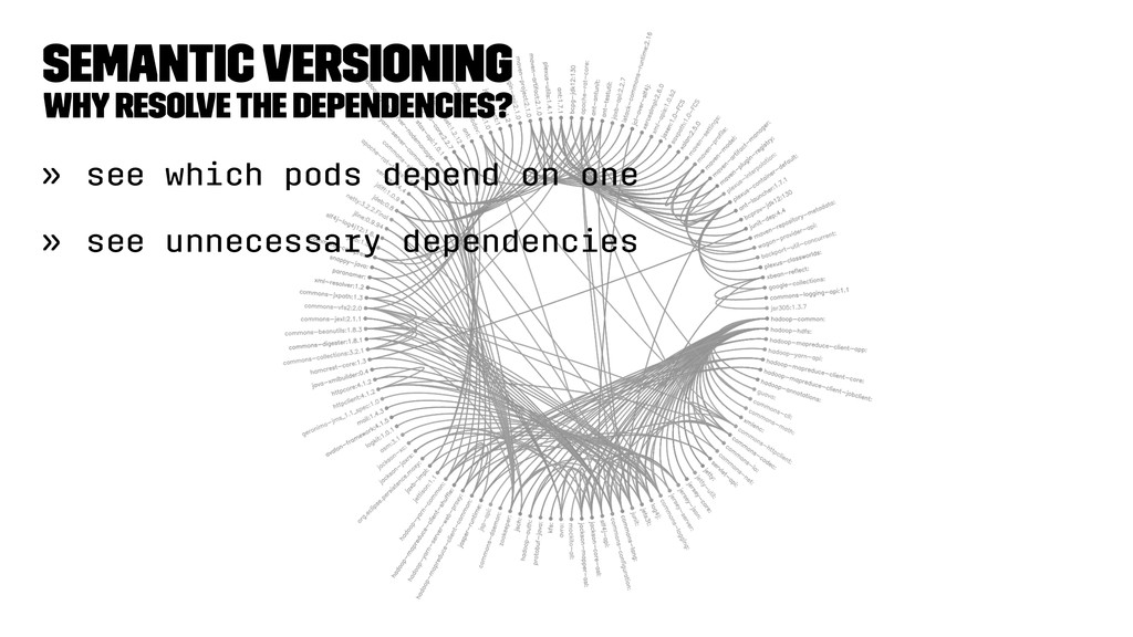 Semantic Versioning Why resolve the dependencie...