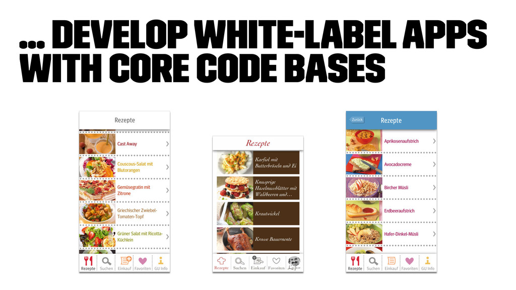 ... develop white-label apps with core code bas...